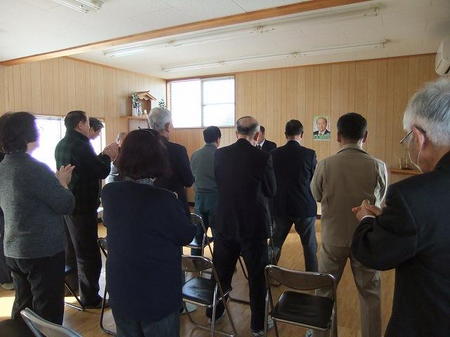 卒業式、栄村支部事務所開き