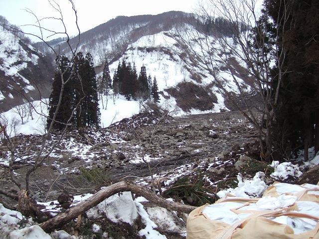 県道長瀬横倉(停)線の被害状況